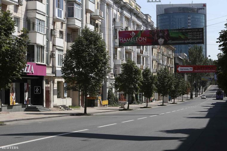 Kihalt utca Donyeck belvárosában