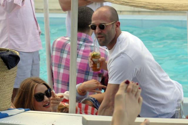 Jason Statham és barátnője, Rosie Huntington-Whiteley Miamiban