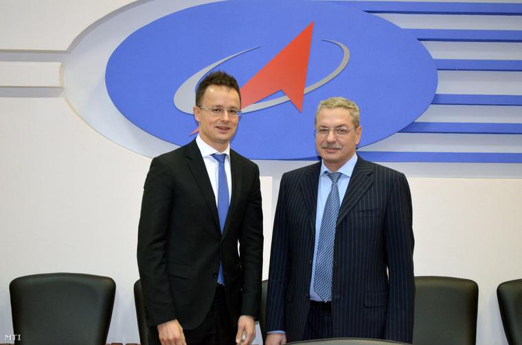 Szijjártó Péter és Anatolij Janovszkij energetikai miniszter-helyettes Moszkvában