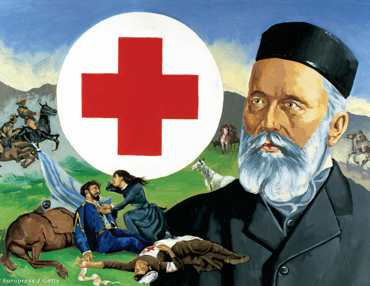 Henri Dunant (1828-1910) a Nemzetközi Vöröskereszt alapítója.
