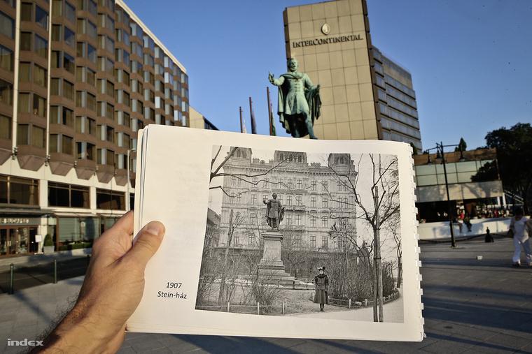 A Stein-ház helyére épült 1910-ben a patinás Duna-parti szállodák egyike, a Ritz Hotel. Később Duna-palota lett, ma a Hotel Intercontinental betonkockája díszeleg a helyén