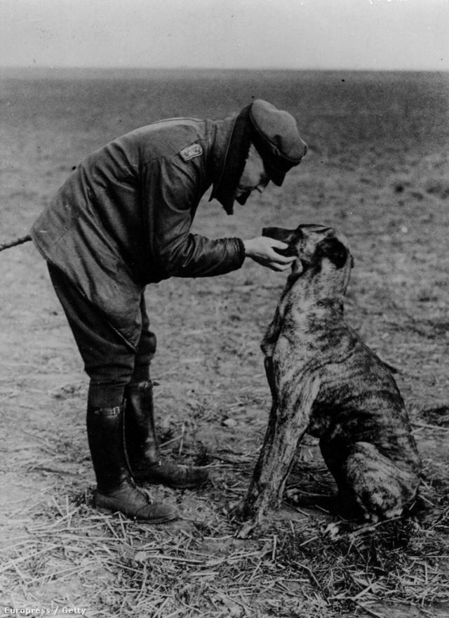 Manfred von Richthofen, a legendás Vörös Báró, és kutyája, Moritz, valamikor 1916-ban. Richthofen volt az első igazi ász, 1918-as haláláig összesen 80 légi győzelmet húztak be a neve mellé. A háború elején még a lovasságnál szolgált, de aztán a lövészárkok térnyerésével, és a lovasság lehetőségeinek beszűkülésével egyszerű híradós tisztté vált. Csak a háború alatt jelentkezett pilótának, és eleinte elég kutyaütőnek tűnt: az első repülésekor balesetet is szenvedett. Később azért kiderült, hogy remek stratéga és igazi mesterlövész: bár voltak nála szebben repülő pilóták, az eredményei magáért beszéltek. Érdekesség még az is, hogy bár neve összefort a háromfedeles Fokker Dr.I-gyel, győzelmeinek háromnegyedét kétfedelű Albatros D.II-ben érte el. 1918. április 21-én halt meg, halálos sebet kapva még letette a gépet, a hozzá sietők szerint utoljára azt mondta: kaputt.