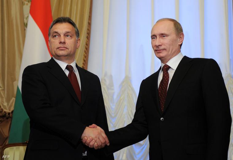 Orbán és Putyin Moszkvában egyeztettek