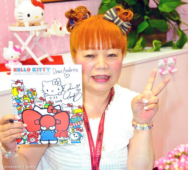 """Yuko Yamaguchi, a karakter """"Hello Kitty"""" megalkotója."""
