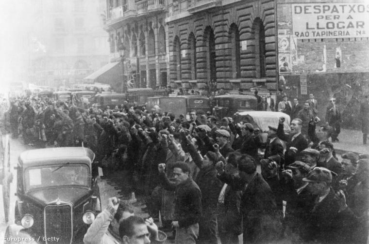 Brit önkéntesek a spanyol polgárháborúban
