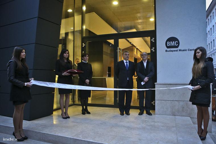 A Budapest Music Center (BMC) épületének átadó ünnepsége, 2013. március 24-én.