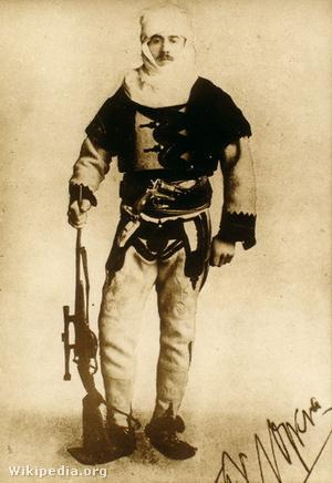 Nopcsa Ferenc albán egyenruhában