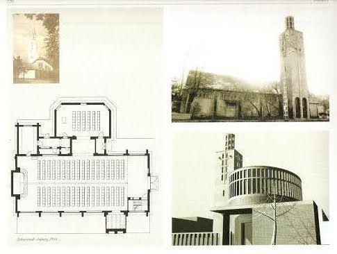 A templom egykor, és az átalakítására készített tervek