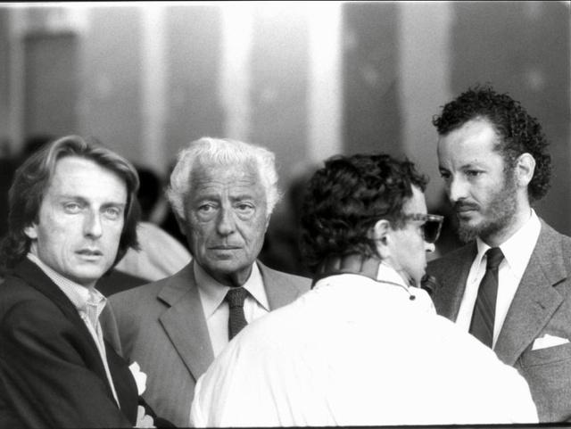 Montezemolo és Agnelli valamikor a hetvenes években.