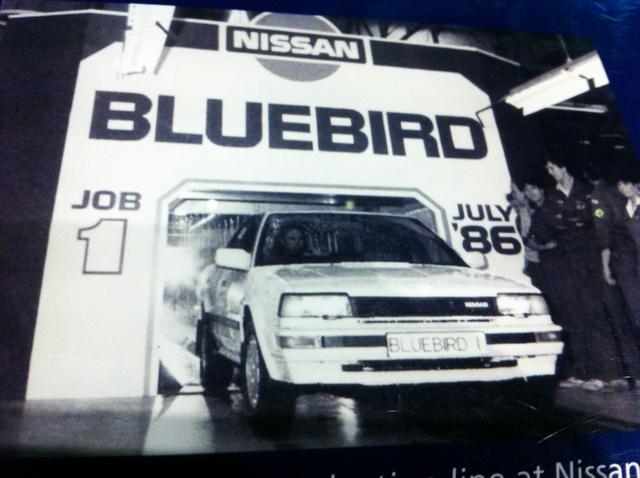 1986 júliusában készült el hivatalosan a legelső Nissan Bluebird a sunderlandi gyárban. Még a pénzügyi szakemberek sem bíztak a Nissan új befektetésében, de az idő megmutatta, nagyot tévedtek