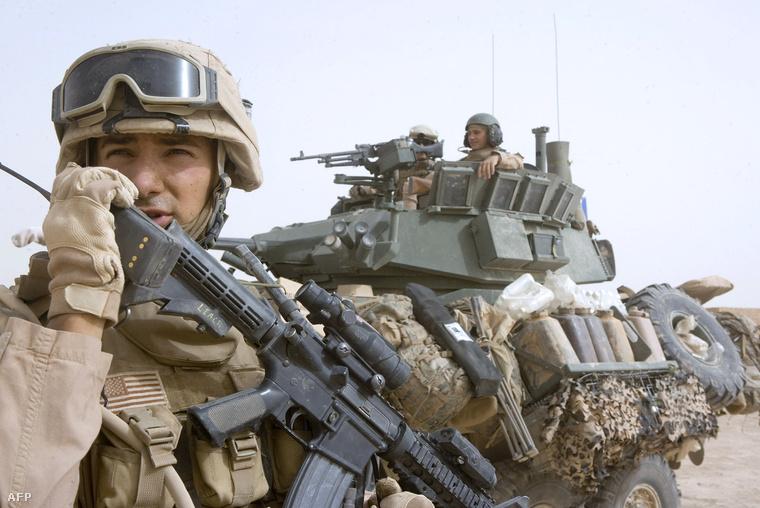 Tengerészgyalogos Irakban még a kivonulás előtt, 2008 júniusában