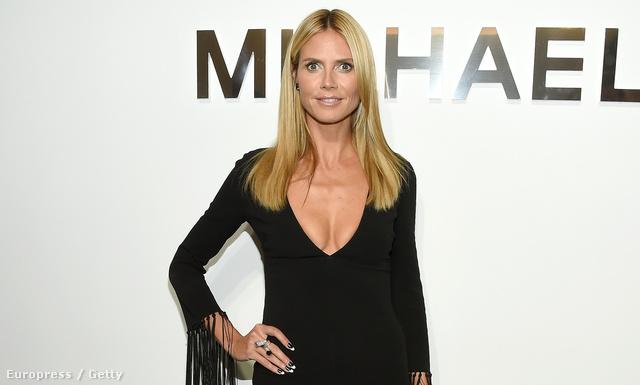 Heidi Klum elment megnézni Michael Kors divatbemutatóját