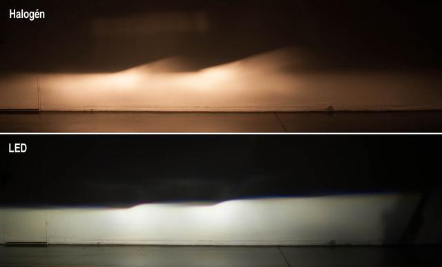 A tompított fények összehasonlító fotója