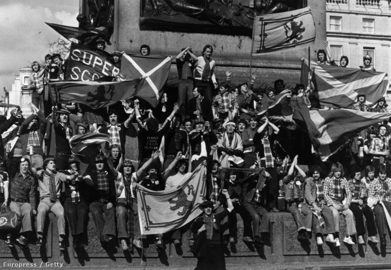 Nemzeti érzelmű skót focirajongók 1979-ben