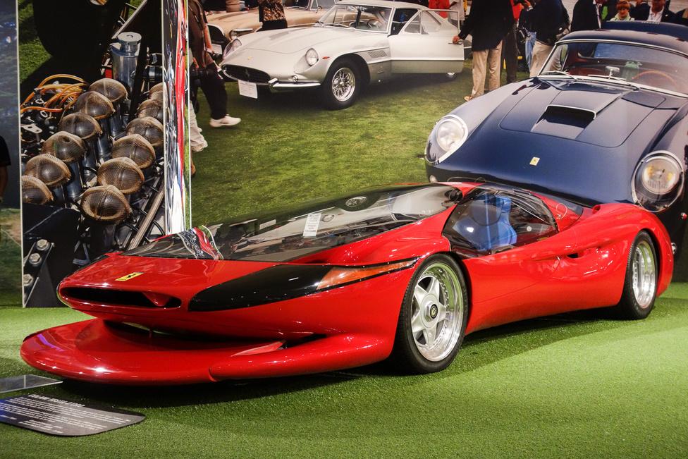 Ez a Colani Testa D'Oro, a Luigi Colani készítette Ferrari, amelynek megalkotásában magyar tervező is részt vett. Bár a hézagok a karosszérián óriásiak, s az egésznek van egy meglehetős Hódgép Puli-érzete, nem szabad lebecsülnünk e Lotec Racing Teammel karöltve készült, Testarossa-alapú szörnyet: ötliteres, 750 lóerős motorjával 351 km/h-t ment a utah-i nagy sóstón