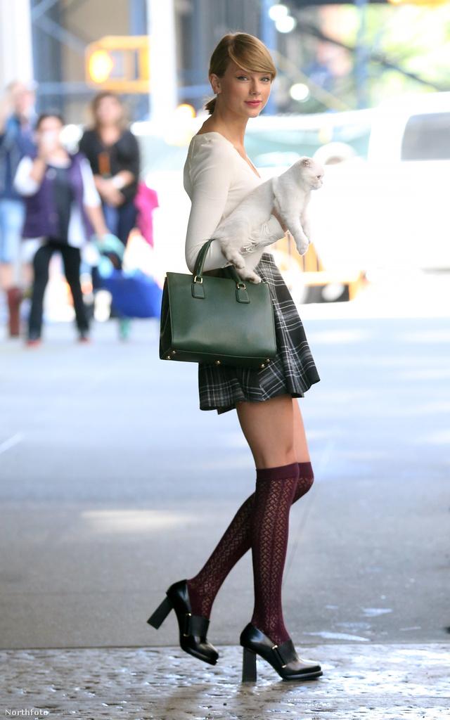 Taylor Swift New Yorkban sétálgatott a macskájával