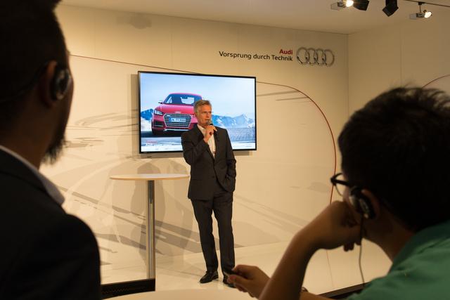 Thomas Faustmann, az Audi Hungária elnöke prezentál