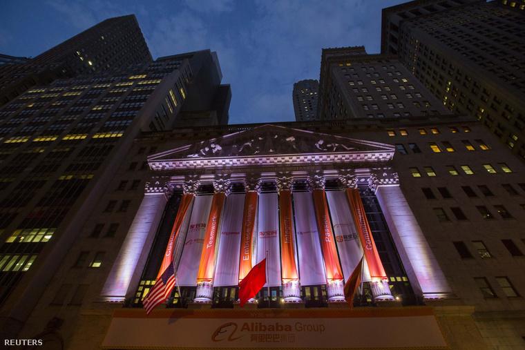 Alibaba a New York-i tőzsdén