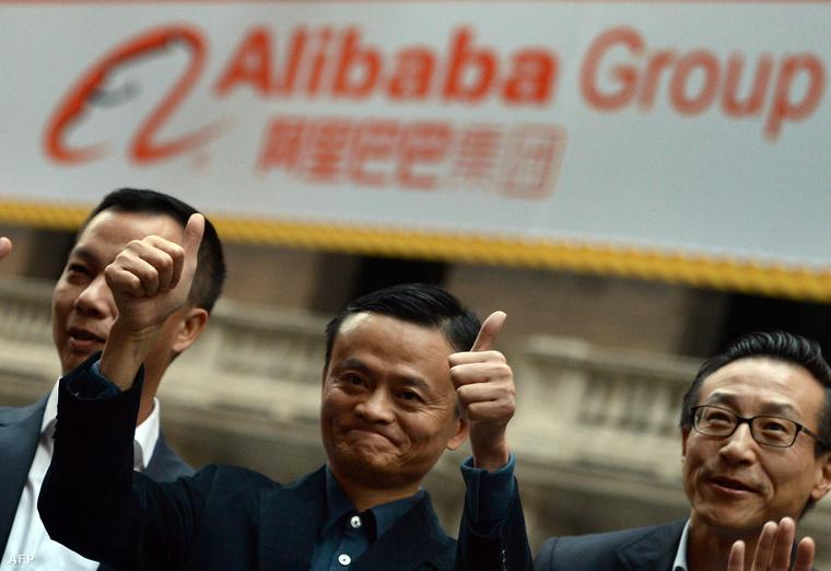 Jack Ma, az Alibaba alapítója (középen)