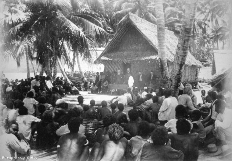Nemzetgyűlés Hongo Floridán a Salamon-szigeteken, 1892.