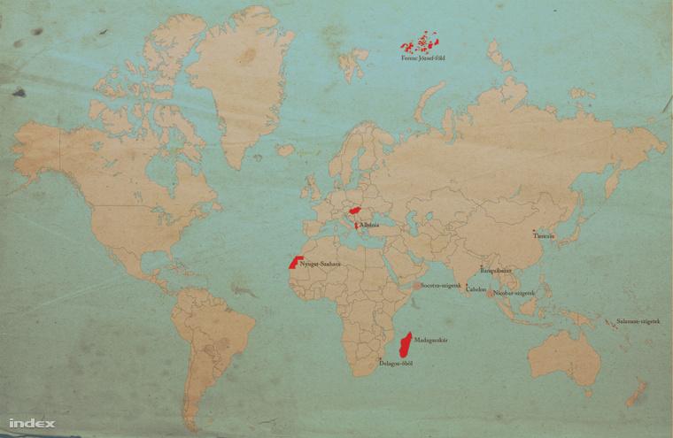 Kattintson, hogy nagyobb méretben csodálja meg, mennyi helyen lehetett volna gyarmatunk!