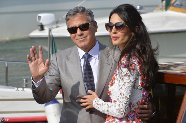 George Clooney és felesége