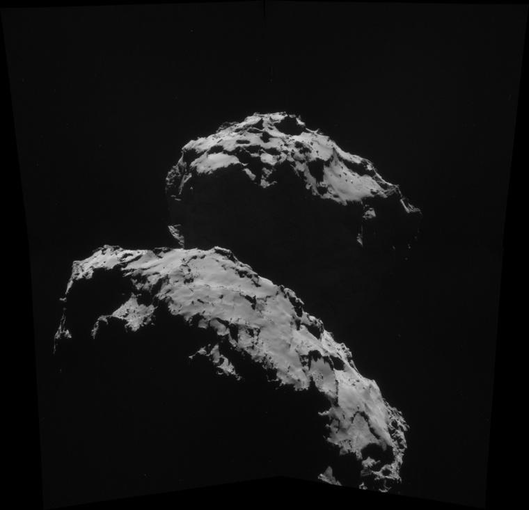 Szintén a NAVCAM fotója, 2014. szeptember 10-én (ESA/Rosetta NAVCAM).