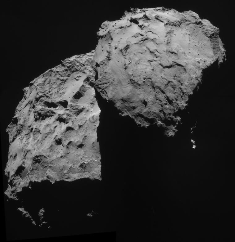 A Rosetta navigációs kamerájával 2014. szeptember 14-én készült felvétel (ESA/Rosetta NACVAM).