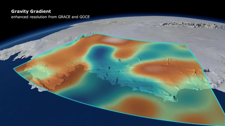 Az Antarktisz nyugati részén 2009 és 2013 között eltűnő jégmennyiség miatt csökkent a gravitációs mező ereje a terület felett.