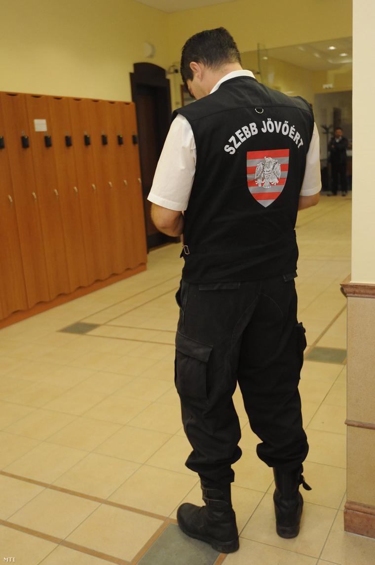 László Attila, a Szebb Jövőért Egyesület elnöke a Szegedi Ítélőtáblán