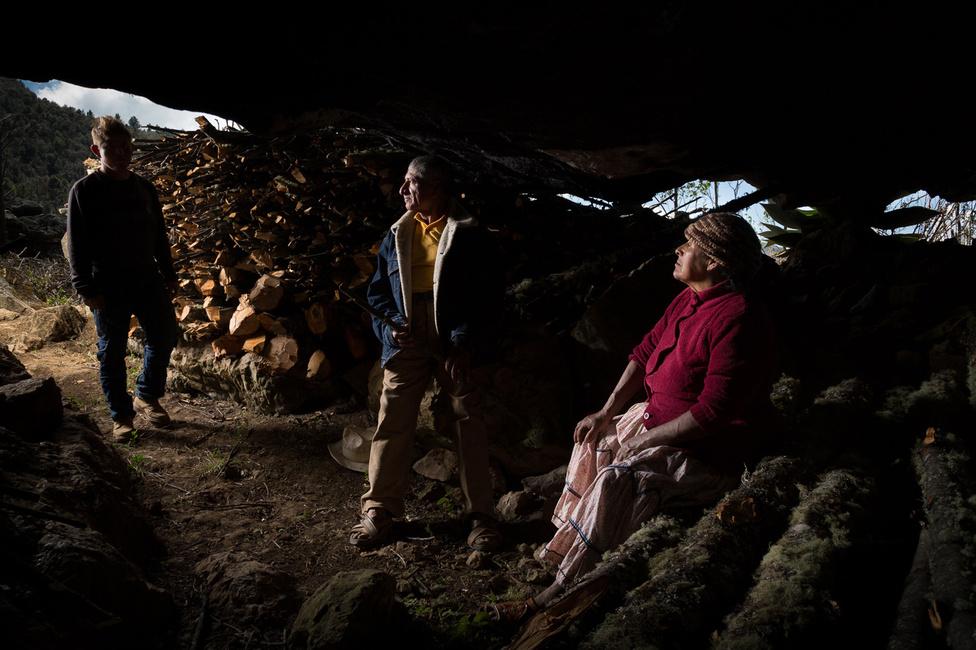 A család egy barlangban őrzi a fát a hűvösebb napokra, gyakran hallgatják együtt Honorato hegedűjátékát.