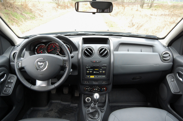 A Dacia Duster beltere a kettővel ezelőtti Renault Cliót idézi. Ez az olcsóság ára