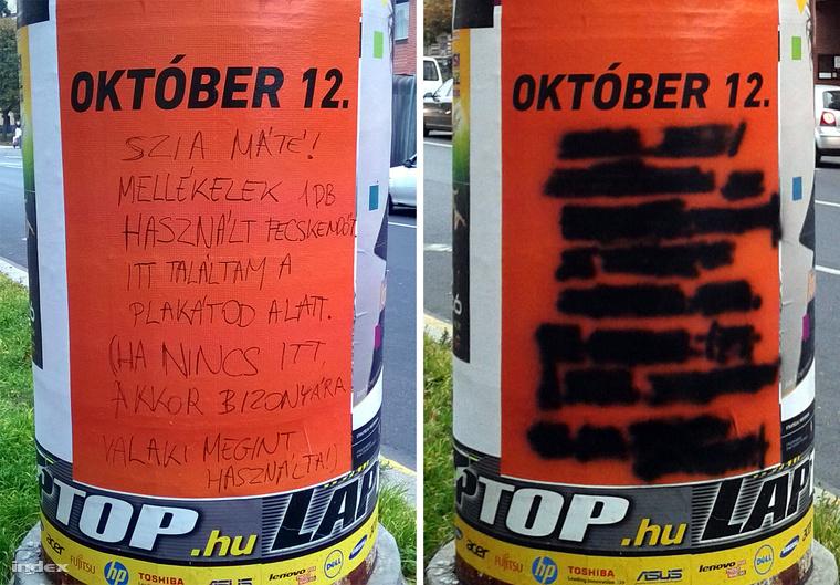 Józsefvárosban sem minden plakátfirkáló kerül rendőrkézre: a VIII. kerületi drogpolitikát kritizáló képet október elején küldte be nekünk egy olvasónk. A képnek Gizi és Gábor történetéhez semmi köze.