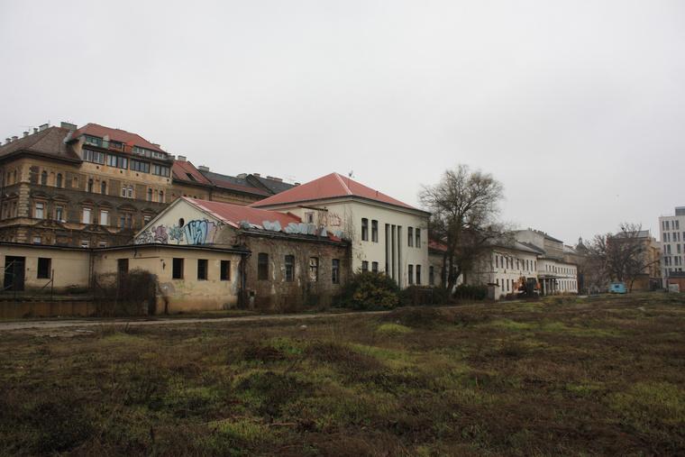 A Nyugati Grund, a tervezett kormányzati negyed helye