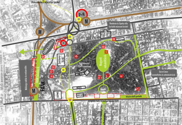 Egy vázlat a Városliget+ tervből
