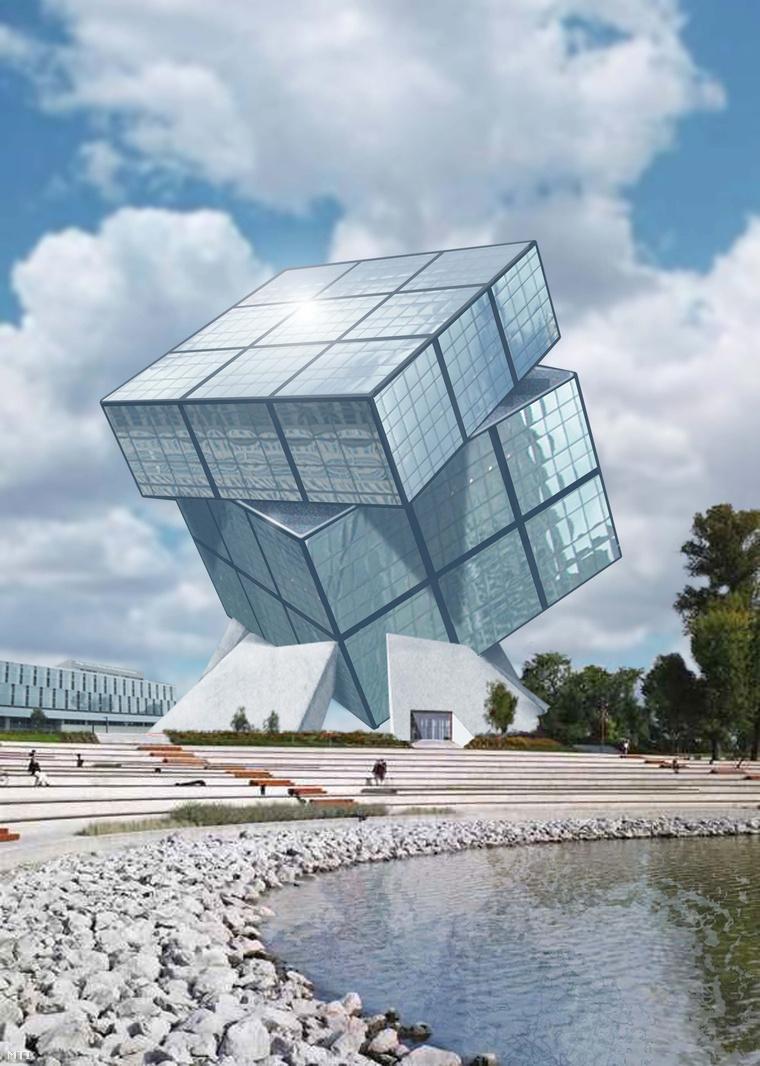 Rubik Múzeum. Látványrajz, nem valószínű, hogy épp ilyen lesz