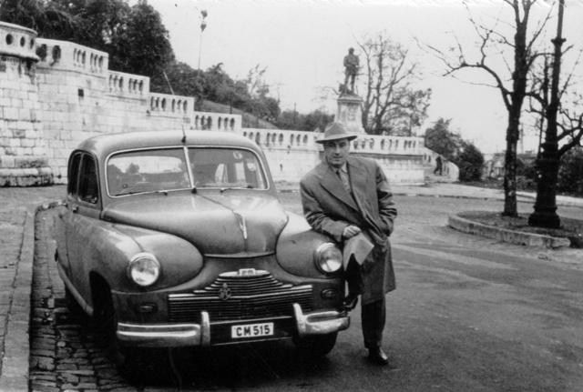 Az angol konzul Standard Vanguard kocsija - itt már magyar rendszámmal