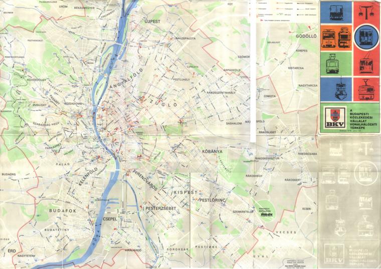 bkv térkép Index   Urbanista   Hozzátok hogyan lehetett eljutni 1978 ban  bkv térkép