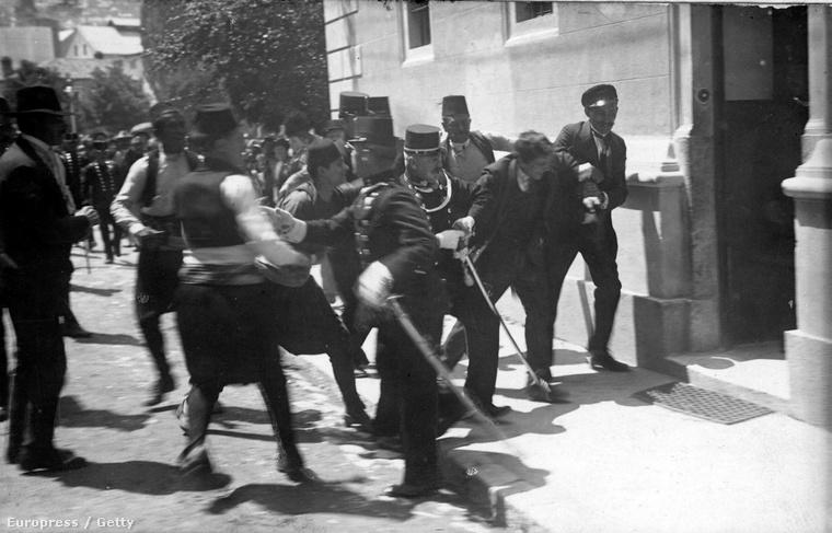 Princip Gavrilo letartóztatása