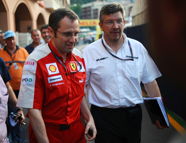 Stefano Domenicali és Ross Brawn