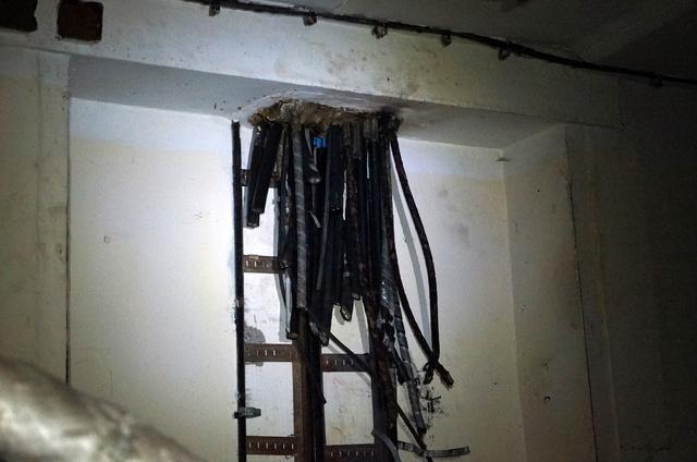 A vezérlőterem kábelkötege