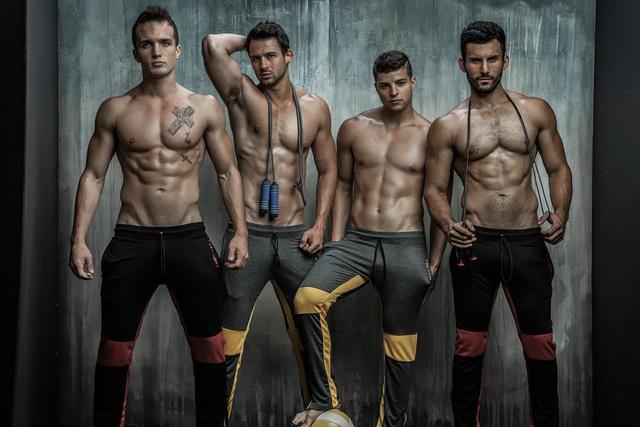 A modellek: José Joey Parra, Curtis Stallard, Wisco és Ronnie McNaughton