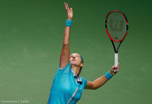 Petra Kvitová játék közben