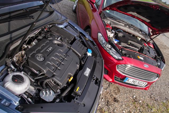 Kásás zajú a Volkswagen kétliteres, 150 lóerős dízele, de ebből kvázi semmit nem hallani odabent