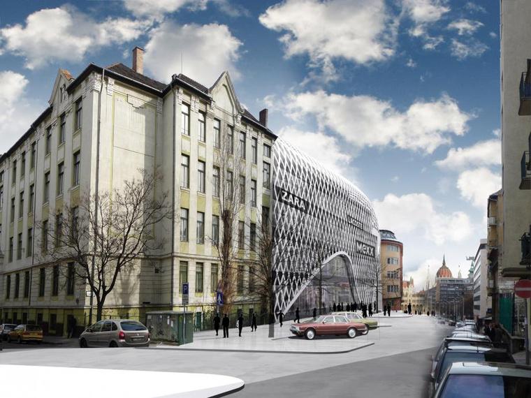 A Lidl-üzletház egyik terve a Csalogány utcába