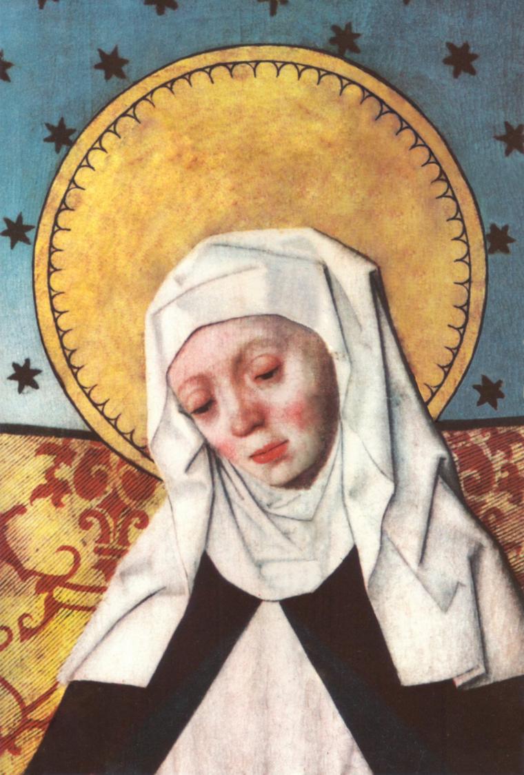 Szent Brigitta ábrázolása egy oltárképen