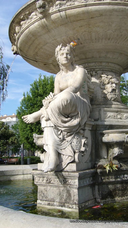 Száva szobra az Erzsébet téri Danubius-kútról