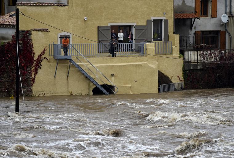 Saint-Laurent-du-Pape a heves esőzések után