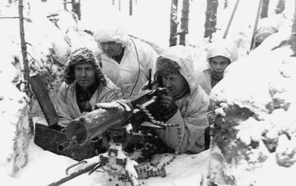 Finn géppuskások a téli háborúban