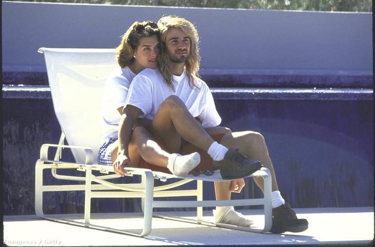 Brooke Shields és André Agassi